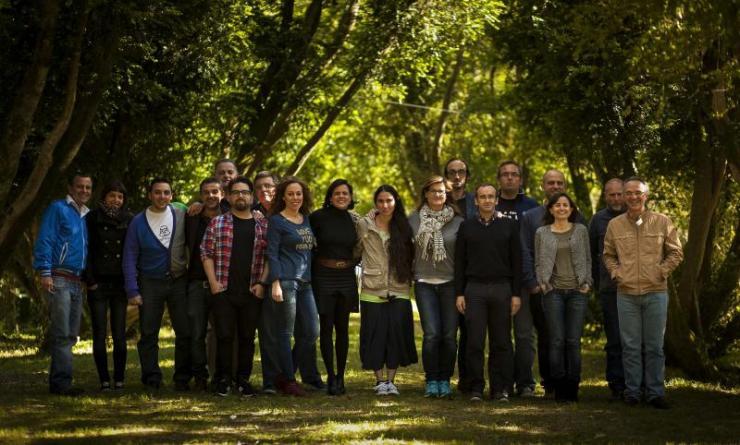 Foto de familia de los participantes en NEThinking2013 | Fundación Illa de San Simón