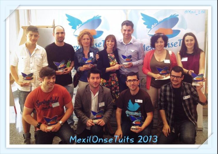 Los premiados en la II Edición de MexilOnseTuits | foto: xavi_life