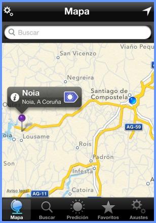 MeteoSIX | Localización mediante mapa