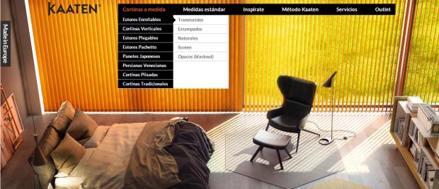 La web de venta online de cortinas y estores que inspiró este post