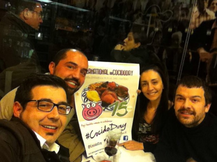 Frenchi, Alberto, Luis y Laura, fundadores del #CocidoDay